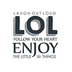 Laugh Out Loud Word Art
