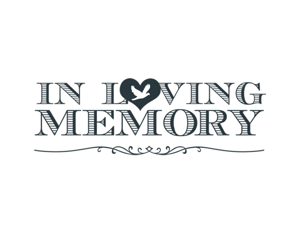 in loving memory word art