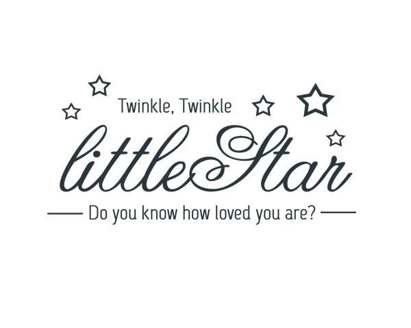 twinkle little star word art