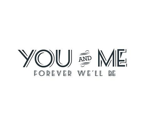 You and Me Word Art 1