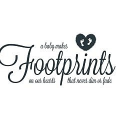 Footprints Word Art