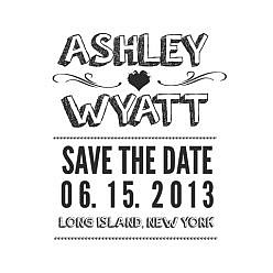 Ashley Save The Date Word Art