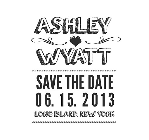 Ashley Save The Date Word Art 1