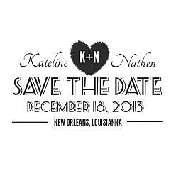 Kateline Save The Date Word Art