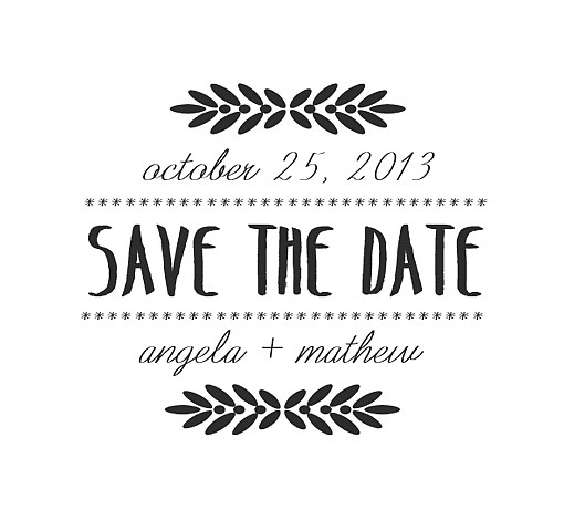 Angela Save The Date Word Art 1