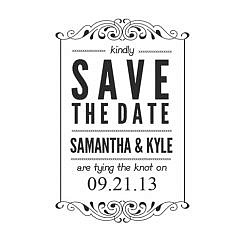 Samantha Save The Date Word Art