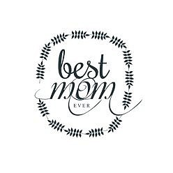 Best Mom Word Art