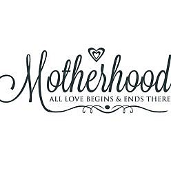 Motherhood Word Art