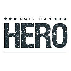 American Hero Word Art