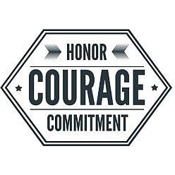 Honor Courage Word Art