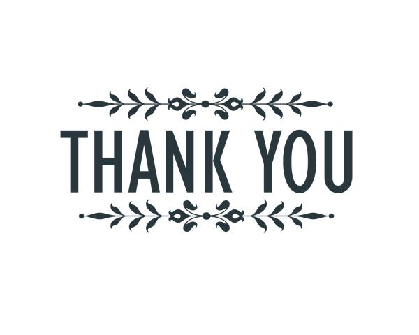 Thank You 5 Word Art | Squijoo.com