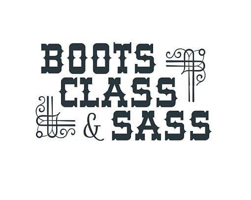 Boots Sass Word Art 1