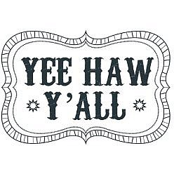 Yee Haw Word Art