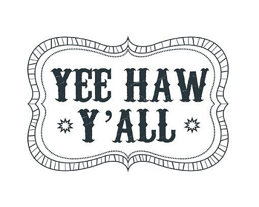 Yee Haw Word Art 1