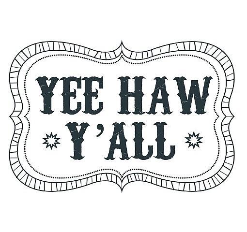 Yee Haw Word Art 1