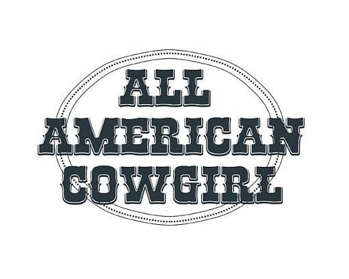 All American Cowgirl Word Art 1