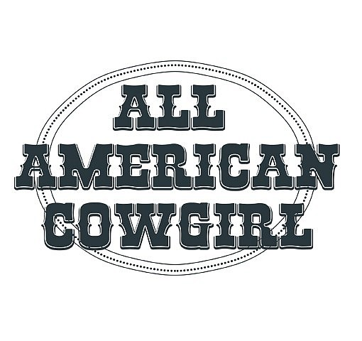 All American Cowgirl Word Art 1