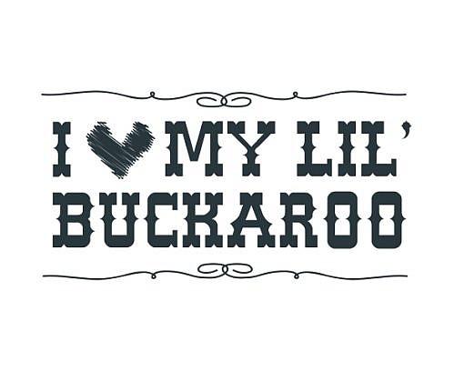 Lil' Buckaroo Word Art 1