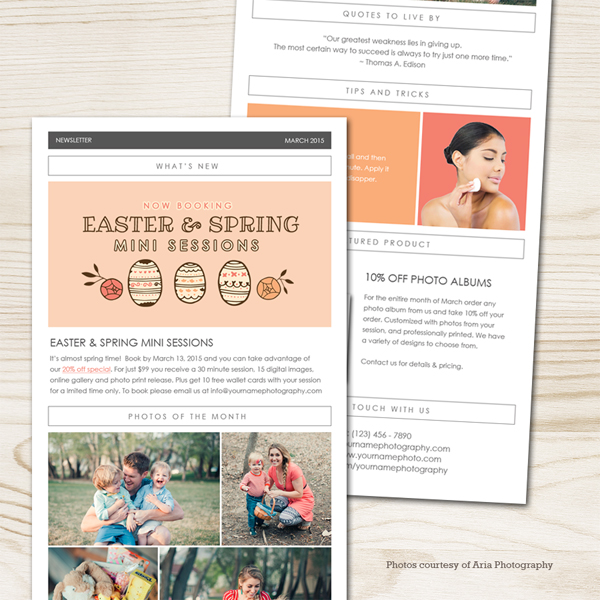 March 2015 Newsletter Template Squijoo Com