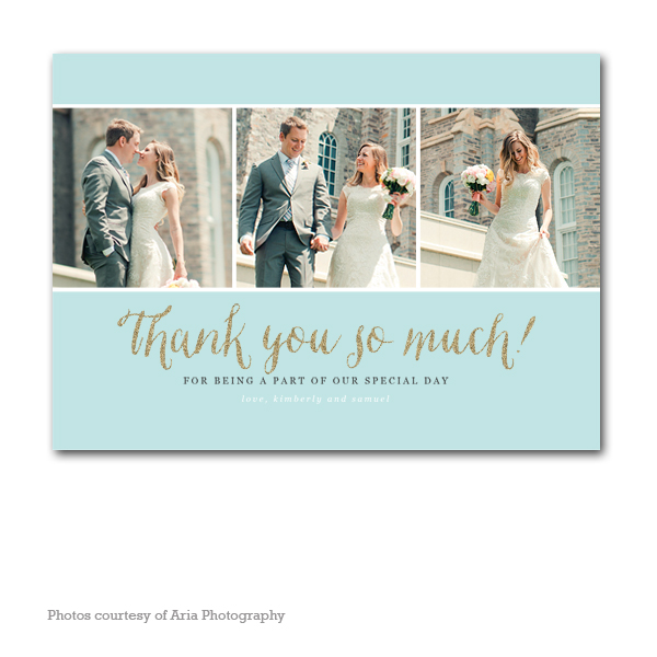Grateful Wedding Thank You Card
