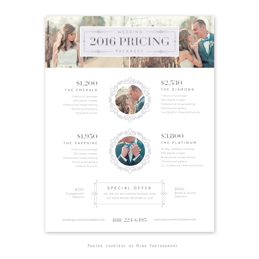 Home Marketing Tools Pricing Sheets Emmora Wedding Guide Template